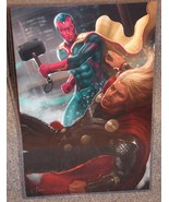 Marvel Thor vs The Vision Glossy Print 11 x 17 In Hard Plastic Sleeve - $24.99