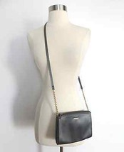 Liz Claiborne gray small-size square shoulder purse bag gold chain occasion - $29.99
