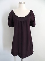 Anthropologie Maeve size 2 dark purple knee length shift dress includes ... - $44.99