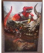 Power Rangers Dinozord vs Transformers Grimlock Glossy Print 11 x 17 In ... - $24.99