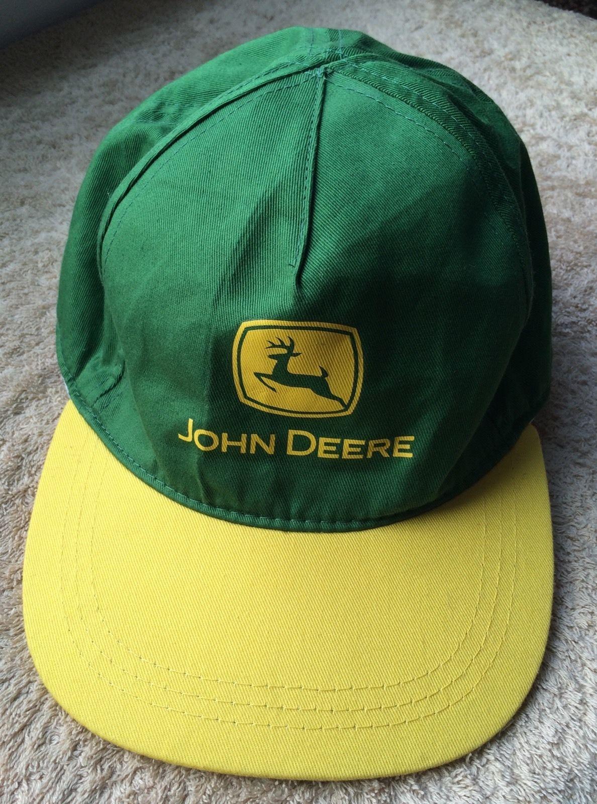 John Deere Hat Logo Green Yellow Baseball Cap SnapBack Tractor Lawn Agriculture