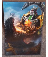Godzilla vs Power Rangers Dragonzord Glossy Print 11 x 17 In Hard Plasti... - $24.99