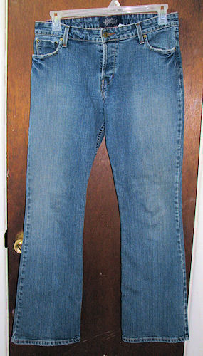 Signature Levi Strauss Low Rise Slim Boot Cut Blue Jeans Size Juniors 13
