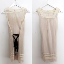 Urban Outfitters size EXTRA SMALL nude creme color sleeveless dress slig... - £22.55 GBP
