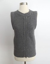 Armani Exchange A/X womens size SMALL gray knit sleeveless full zip swea... - $49.99