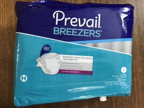Primary image for First Quality Prevail Breezers Diapers Briefs Large Heavy (Pack of 18)