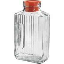 Anchor Hocking Bistro Glass Pitcher with Tangerine Stopper, 2 Quart - $13.99