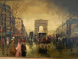 Andre Masset . Listed Artist . Large Impressionistic Oil Painting . Paris - $895.00