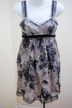 Ann Taylor Loft 0P Dress Black Gray Floral Orga... - $27.40