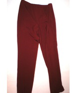 New Womens Worth York Pants Dark Red Slacks Off... - $345.00