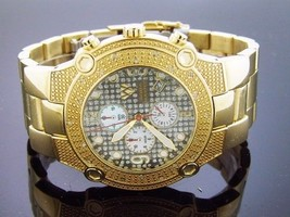 Aqua Master Round 20 Diamond Yellow Gold tone case Watch - $197.99