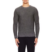 Theory Fabrice E0988721 Men Grey Black Wool Waffle Crew Neck Pullover Sw... - $109.99
