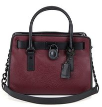 Michael Kors Hamilton French Binding EW Satchel Merlot - $330.66