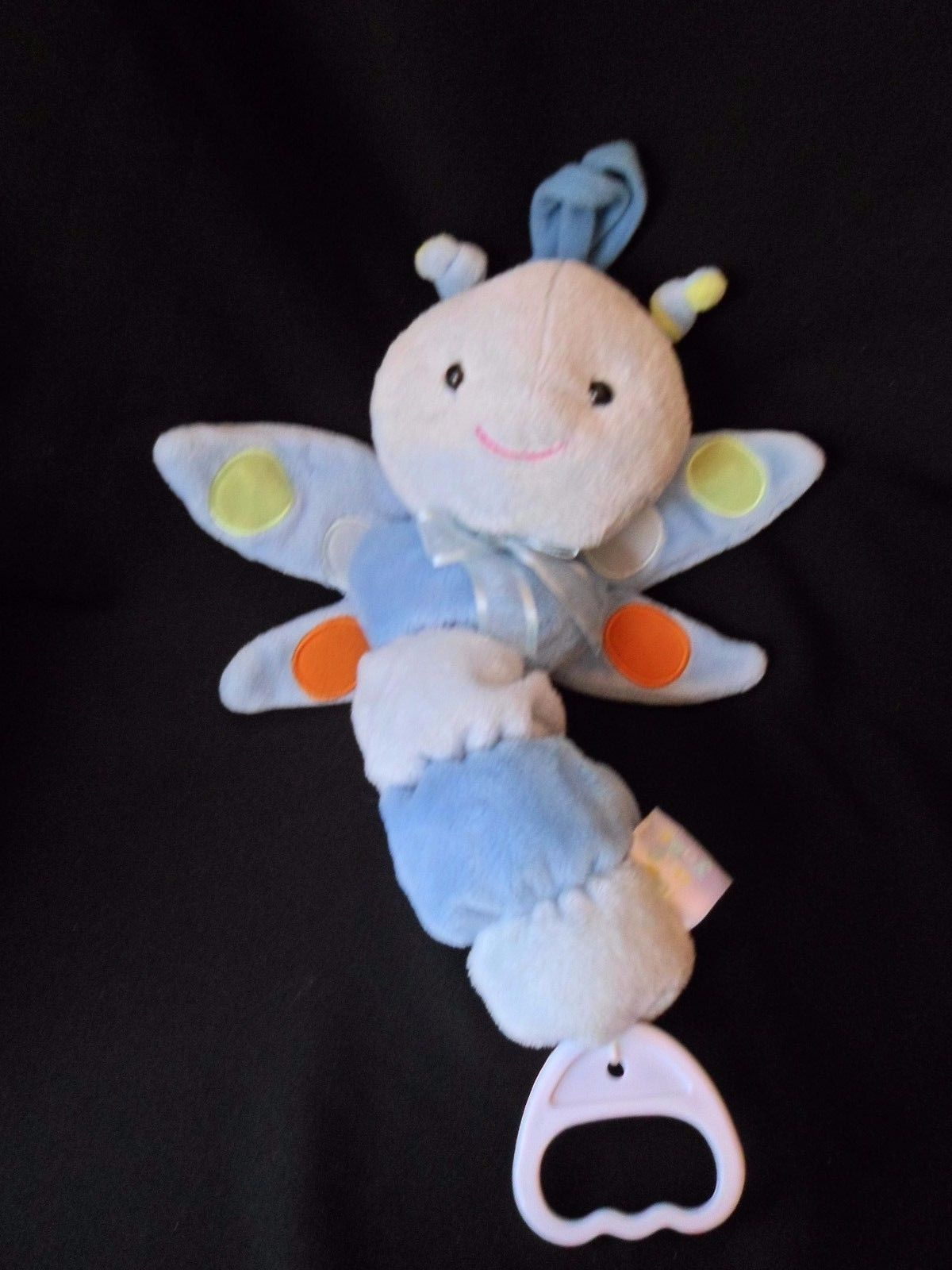 Primary image for Carter's Just One Year Blue Dragonfly Butterfly Musical Light Up Crib Pull Toy