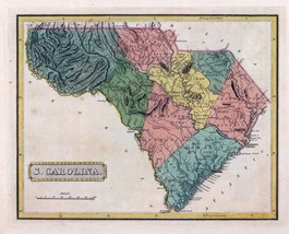An item in the Antiques category: 1816 LUCAS ATLAS MAP POSTER genealogy family history SOUTH CAROLINA 23