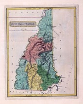 1816 LUCAS ATLAS MAP POSTER genealogy family history NEW HAMPSHIRE 10 - $15.84