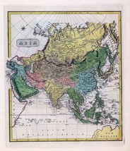 1816 LUCAS ATLAS MAP POSTER genealogy family history ASIA 4 - $15.84