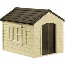 Dog House Vinyl Door Durable Easy To Assemble Up to 70 lbs Dogs Resin Pe... - $84.65