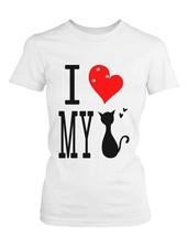 Graphic Statement Women's White T-Shirt - I Love My Cat - $14.99+