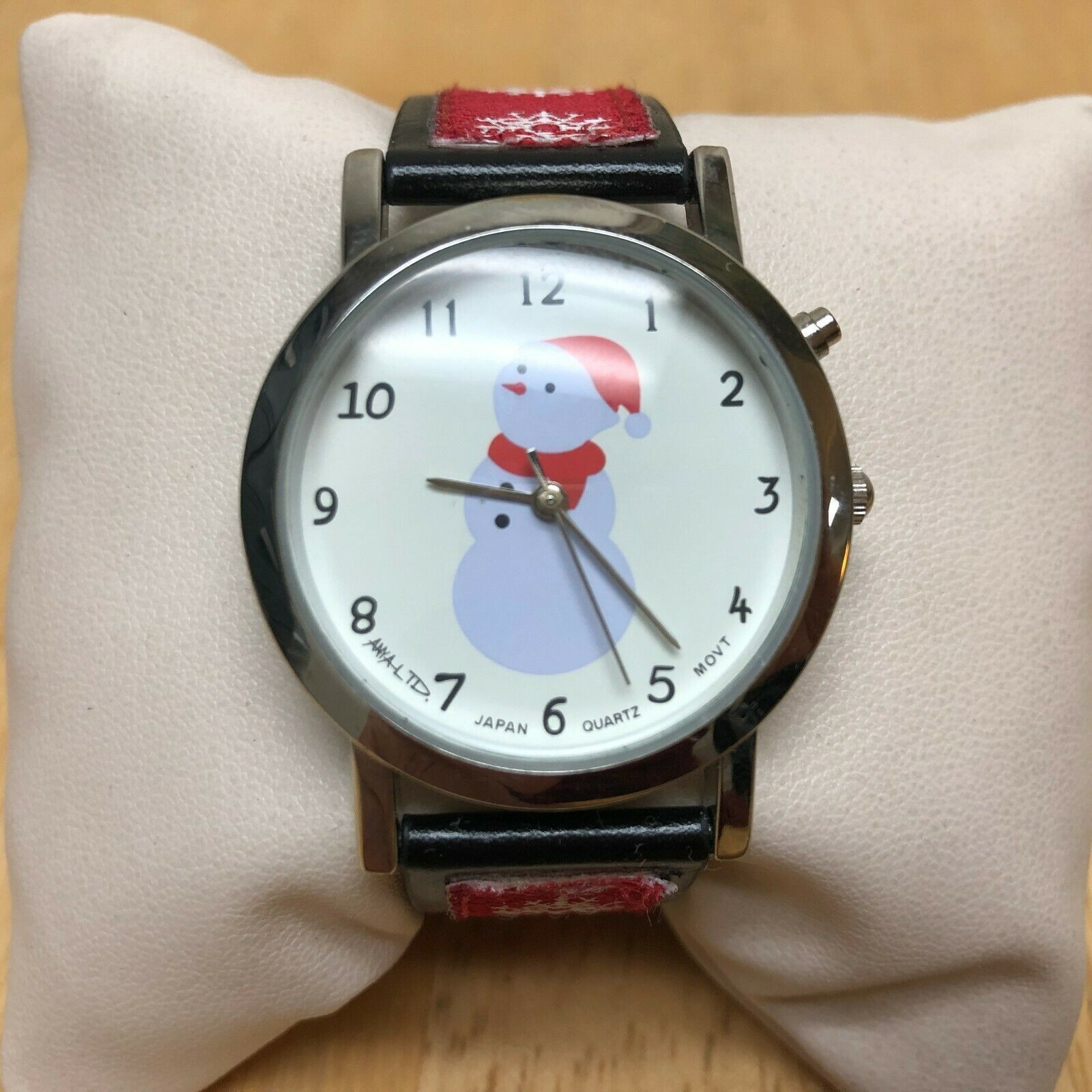Vintage Anya LTD Christmas Jingle Bell Musical Quartz Watch Hours~New Battery image 2