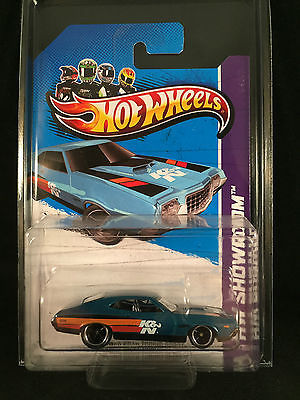 2013 Hot Wheels SUPER Treasure Hunt 72 FORD TORINO GRAN SPORT Blue w/ PROTECTO