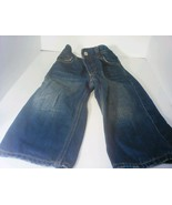 BABY GAP Toddler BOYS SIZE 18-24 M LOOSE FIT DENIM JEANS ADJUSTABLE WAIST - $7.00