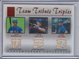 RODRIGUEZ/BLALOCK/TEIXEIRA 2003 Topps Tribute Contemporary Relics Red /50 (C762) - $22.46