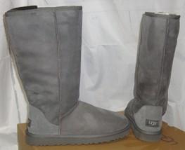 UGG Australia CLASSIC TALL GRAY GREY Suede Sheepskin Boots US 9,EU 40 NE... - $129.60