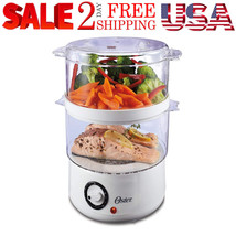 2 Tier Electric Steamer 5 Quart Vegetable Fish Baby Food Cooking Meal He... - $34.99