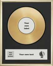 "YOUR OWN PERSONALISED 7"" GOLDEN DISC SINGLE RECORD AWARD PRESENTATION SONG - £107.49 GBP"