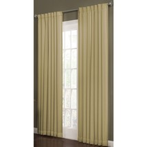 allen + roth Beeston 84-in L Solid Wheat Thermal Back Tab Window Curtain - $28.88