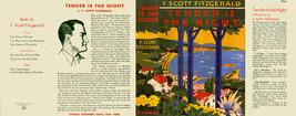 Fitzgerald Tender Is The Night Facsimile Dust Pochette pour 1er Ed / Ear... - $22.54