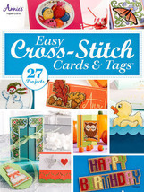 Easy Cross-Stitch Cards & Tags Cardmaking Charts Patterns Designs Baby H... - $14.23