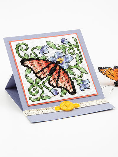 Easy Cross-Stitch Cards & Tags Cardmaking Charts Patterns Designs Baby Holidays