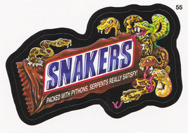 2013 WACKY PACKAGES ANS10 CARD **SNAKERS** #55 ONLY 99 CENTS!!  WOW!! - $0.99