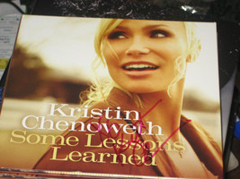 SOME LESSONS LEARNED SIGNED BY KRISTIN CHENOWETH NEW CD 2011 - $51.31