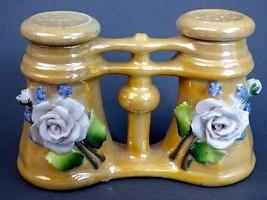Vintage Ceramic Figural Binocular Opera Glasses &  Salt Pepper Shaker Lu... - $21.33