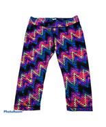 FILA Vibrant Rainbow Colorful Chevron Capri Leggings Small S Compression... - $20.00