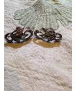 Vintage Antique Sterling Silver Marcasite Screw Back Clip On Earrings  - $88.83