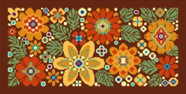 "Latch Hook Pattern Chart: READICUT #739 Flower Gala 36"" x 72""  - EMAIL2u - $6.95"
