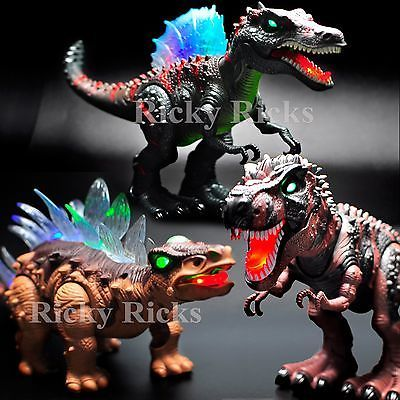 Jurassic Park T-Rex Walking Dinosaur Light-Up Toys Spinosaurus LED Roaring Sound