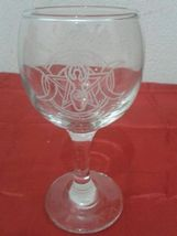 Glass Chalice. Ritual Goblet handmade carved. Altar supply Triple Goddess Hecate - $55.55
