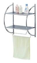 Home Basics Bath Shelf Chrome - $29.99