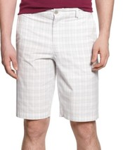 Alfani Mens Shorts Sz 42 Bright White Grey Mult... - $18.62