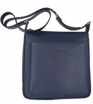 SALVATORE FERRAGAMO Men's Blue Revival Leather Crossbody Messenger Bag H... - $696.25
