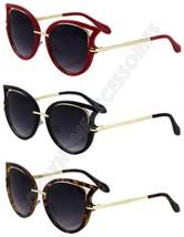 Retro Women Men Sunglasses Metal Frame Golden Leg Cat Eye Shades Eyeglasses - $7.95