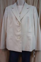 "Evan Picone Suit Blazer Sz 14 Beige ""Almond New... - $37.34"