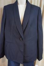 Evan Picone Blazer Sz 12 Navy Blue Striped Faux... - $37.34