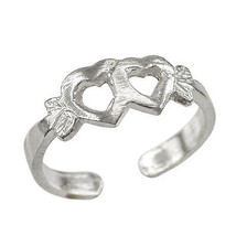 925 Sterling Silver Double Heart Toe Ring - $12.99