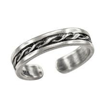 925 Sterling Silver Spiral Twist Toe Ring - $12.99